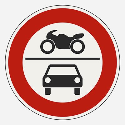 Zákaz vjazdu pre všetky motorové vozidlá