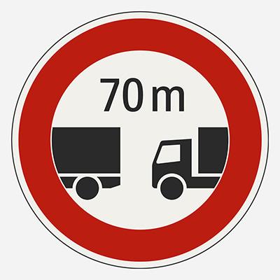Minimálna vzdialenosť medzi vozidlami