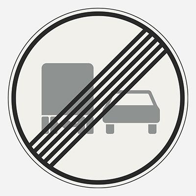 Koniec zákazu predchádzania pre nákladné vozidlá