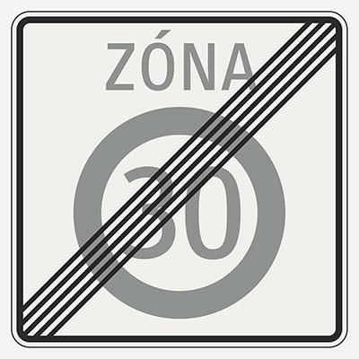 Koniec zóny najvyššej dovolenej rýchlosti