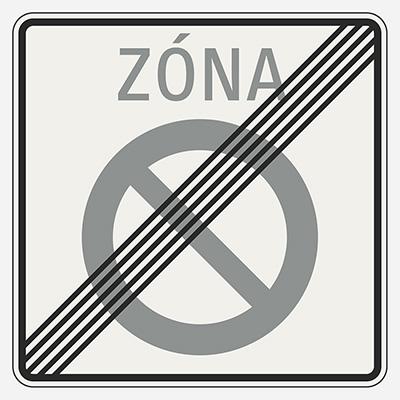 Koniec zóny zákazu státia