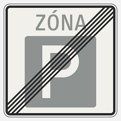 Koniec parkovacej zóny