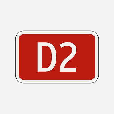 Číslo diaľnice alebo rýchlostnej cesty