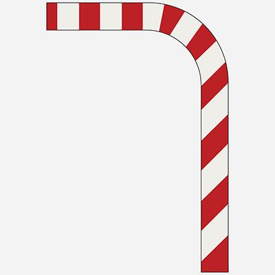 Červené a biele pruhy