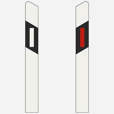 Smerový stĺpik ľavý, pravý