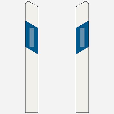 Stĺpik s výstrahou ľavý, pravý