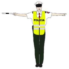 Stoj pokyn policajta