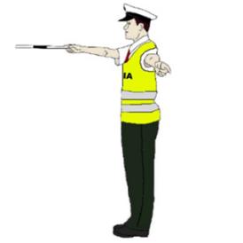 Trojstranná uzávera pokyn policajta