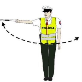 Zrýchliť jazdu pokyn policajta