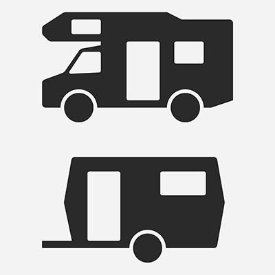 Miesto pre obytné automobily a obytné prívesy